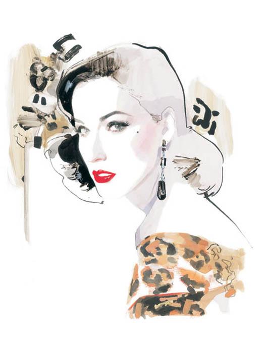 Потрясающие fashion-иллюстрации от David Downton.