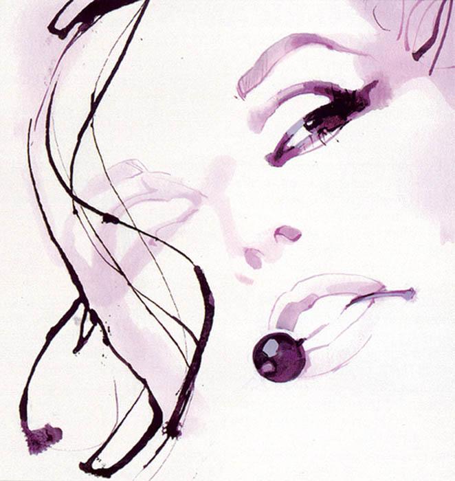 Акварельные иллюстрации David Downton.
