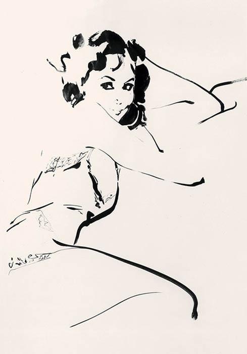 Изящные модные рисунки от David Downton.