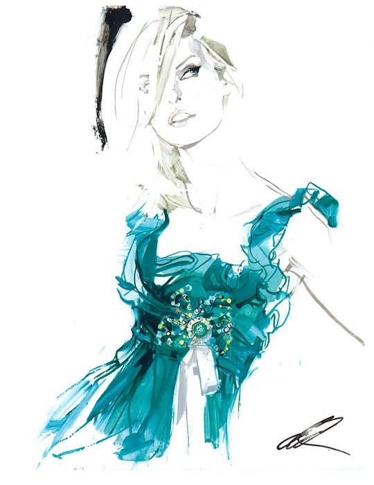 Fashion-иллюстрации от David Downton.