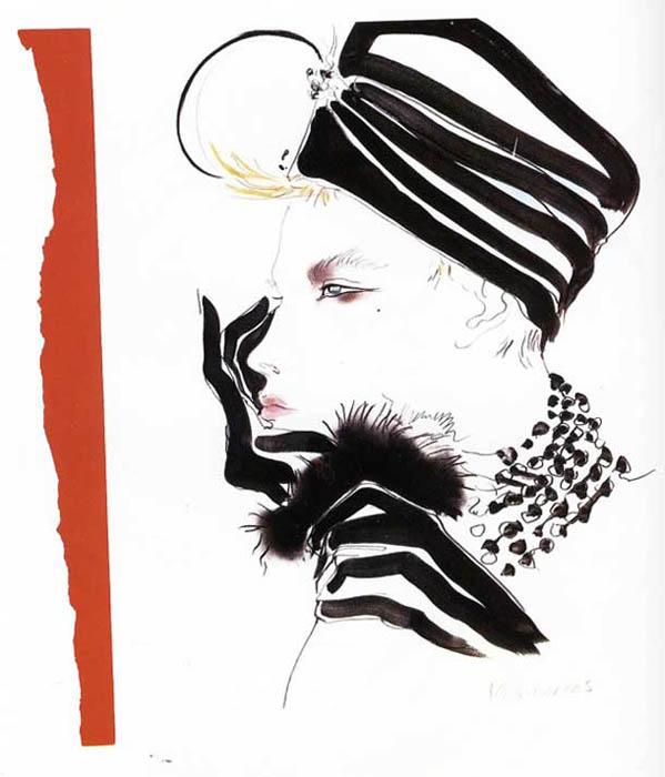 David Downton - мастер модных иллюстраций.