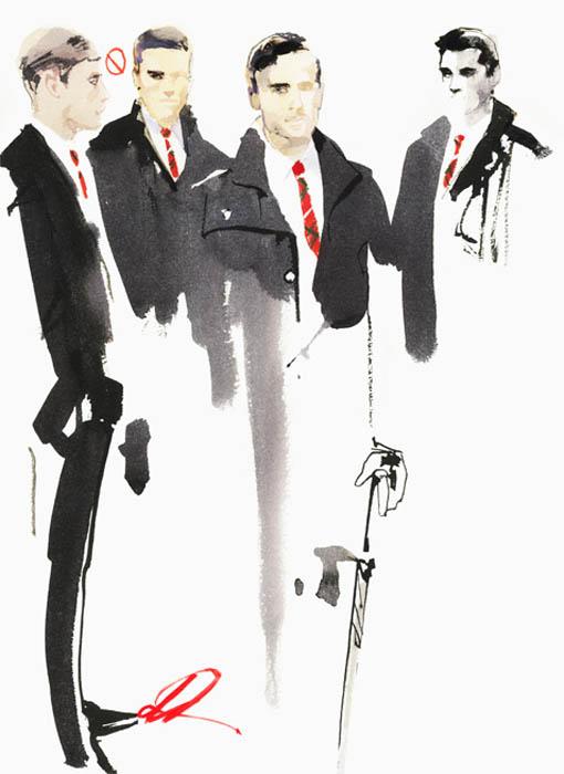Мужская мода глазами David Downton.