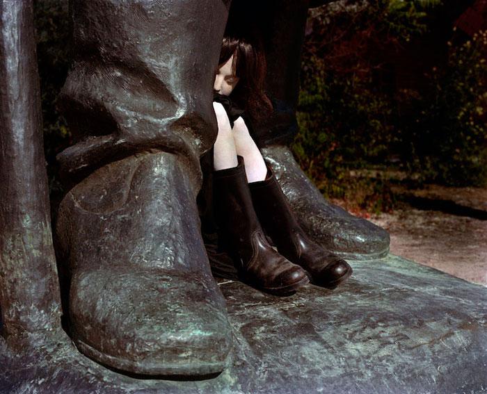 Фотографии со статуями в Будапеште.