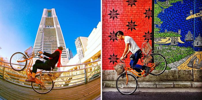 Трюки на велосипеде.