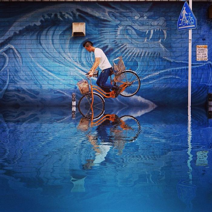 Фотографии на велосипеде.