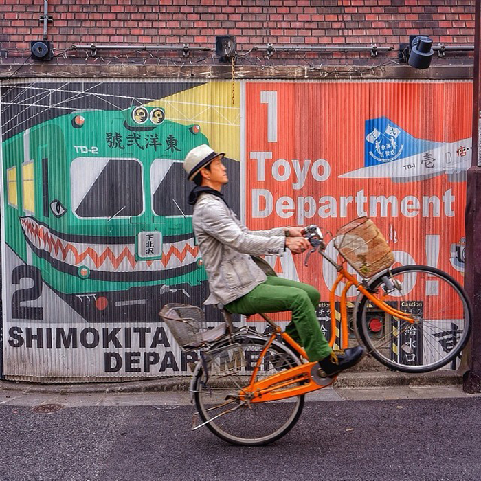 Фотографии на велосипеде Mamoru Kanai.
