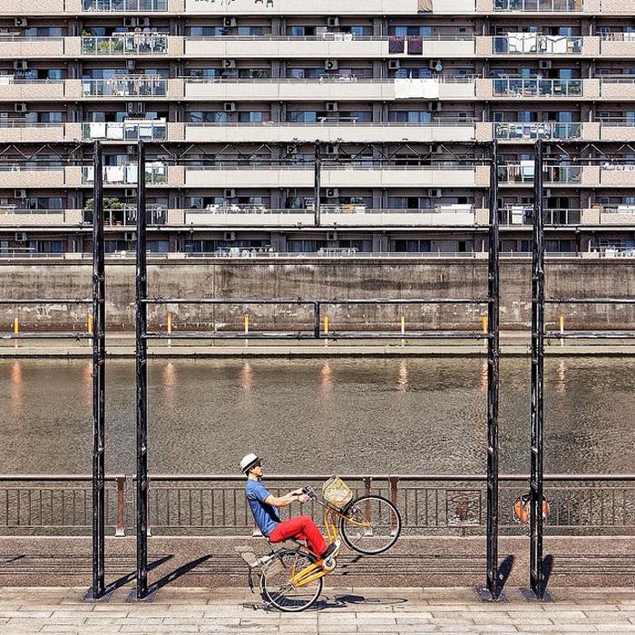 Трюки на велосипеде от Mamoru Kanai.