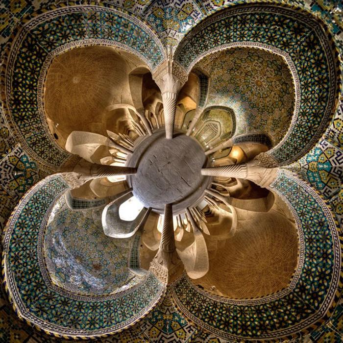 Интерьеры иранских мечетей.