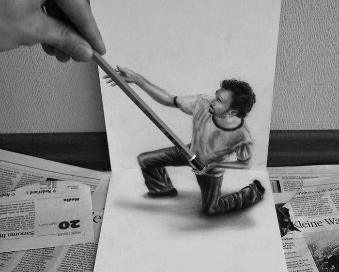 Трехмерные рисунки от Paul Grendly.