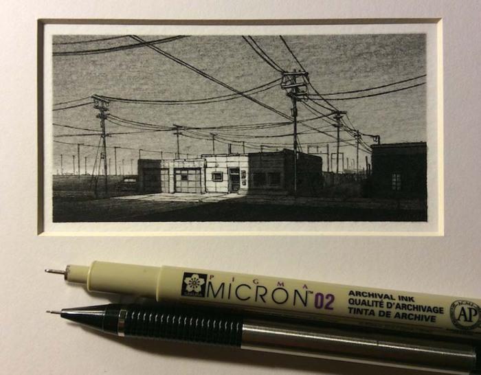 Рисунки, размер которых соизмерим с карандашом.