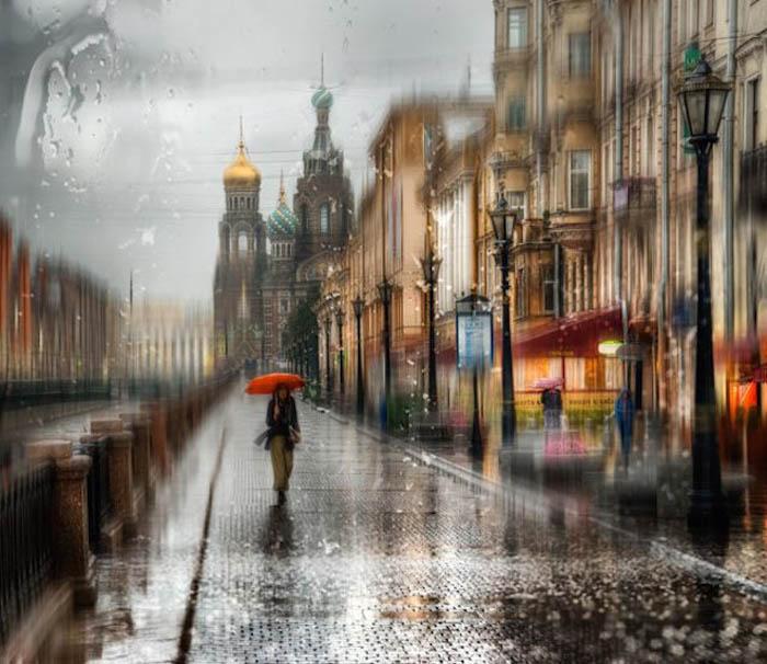 Санкт-Петербург под дождем.