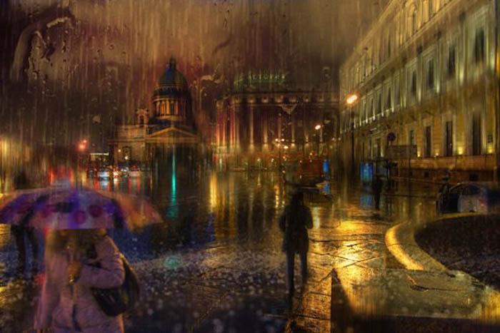 Необычные снимки Санкт-Петербурга, дополненные красками.