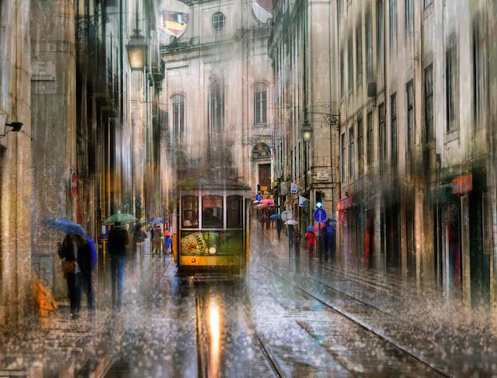 10 атмосферных фотографий Петербурга в дождь.