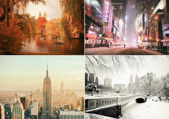 Серия потрясающих фотографий Нью-Йорка.