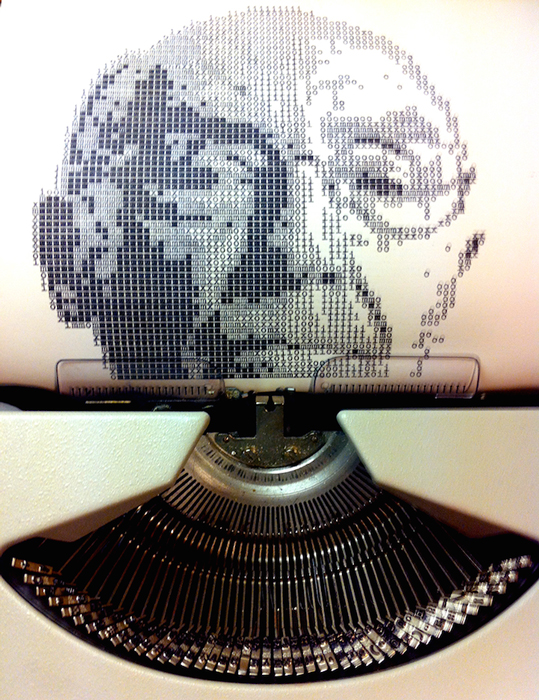 Портреты, сделанные на пишущей машинке.