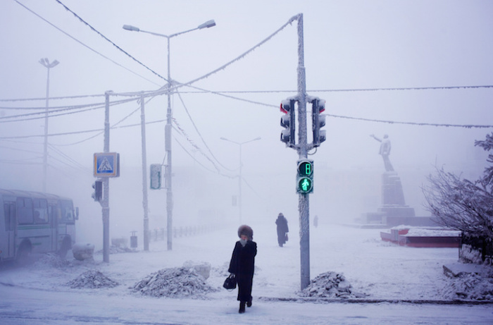 Фотографии из самого холодного населенного пункта на Земле.