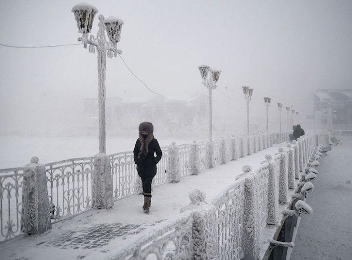 Фотографии из зимнего Оймякона.