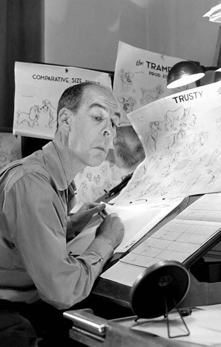 Ретро-снимки художников-аниматоров Disney.