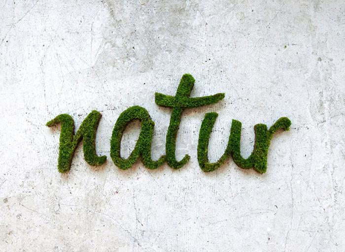 Экологичное граффити от Anna Garforth.