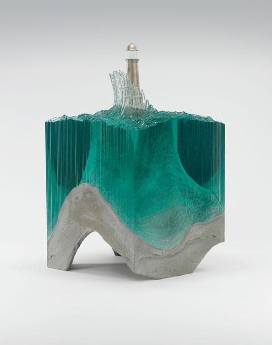 Скульптуры из прессованного стекла от Ben Young.