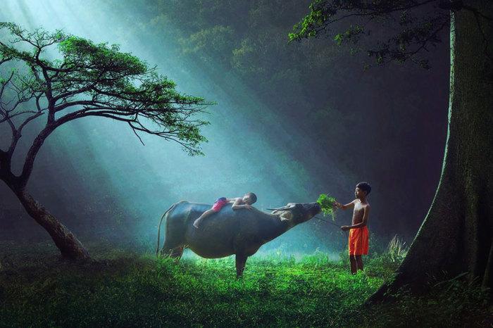 Дети из Индонезии.