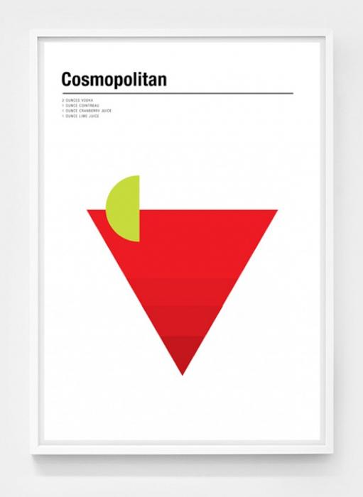 Плакаты со схемами коктейлей.