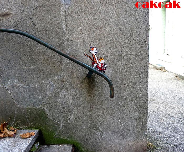 Уличное искусство от OakOak.