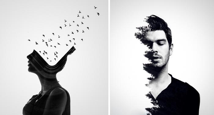 Необычные портреты от Erkin Demir.