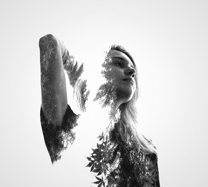 Double Exposure Portraits от Erkin Demir.