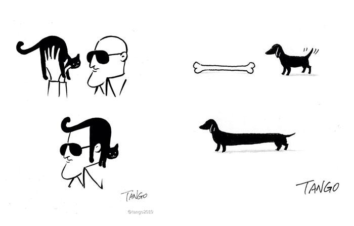 Смешные комиксы в стиле минимализм.