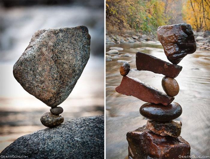 Невероятные инсталляции из камней.