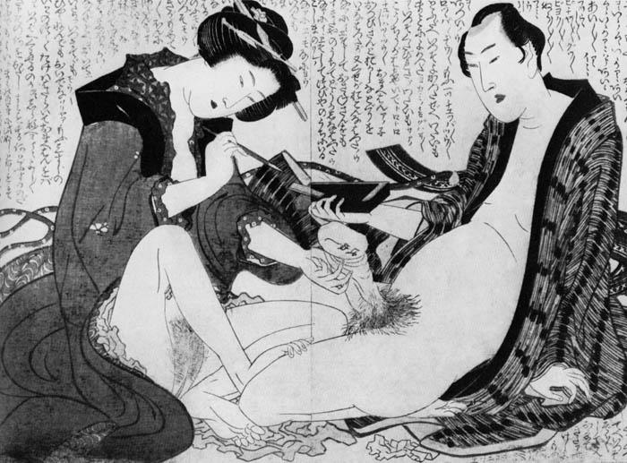 Эротические работы великого японского мастера.
