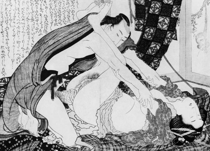 Эротические рисунки Кацусика Хокусай.