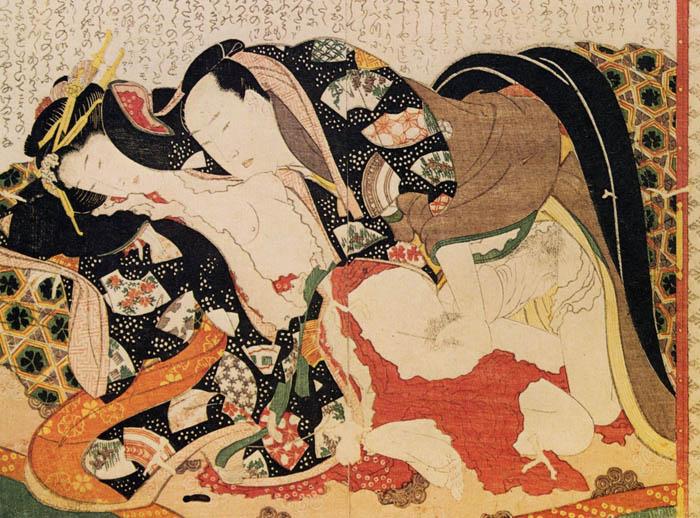 Уникальные японские иллюстрации в эротическом ключе.