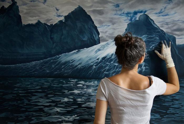 Удивительные картины пастелью от Zaria Forman.
