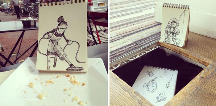 Забавные иллюстрации от David Troquier.