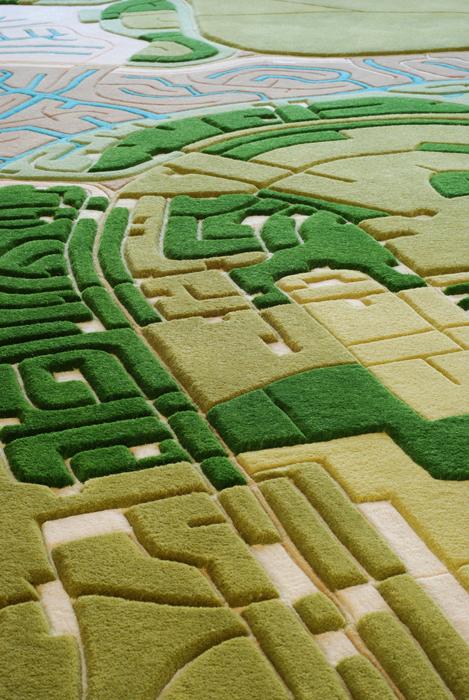 Ковры, сделанные на основе аэроснимков.