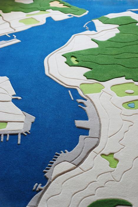 Ковры на основе снимков ландшафтов, разработанные Florian Pucher.