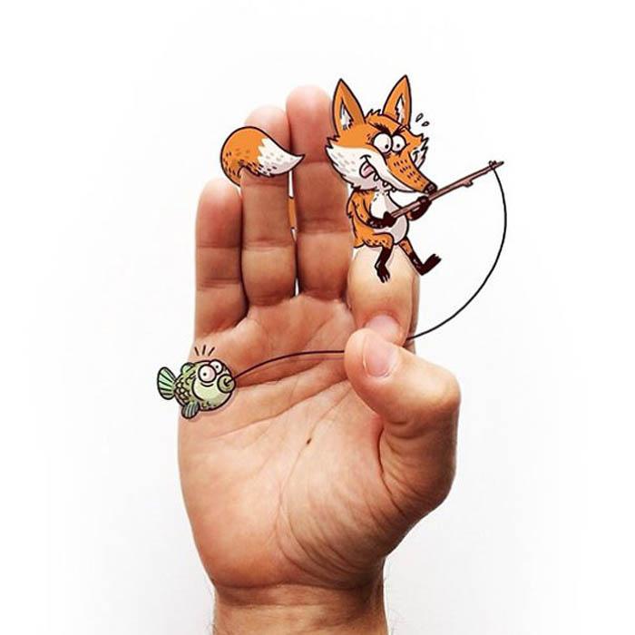 Fox and Fish - буква F.