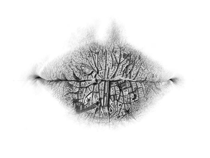 Карандашные рисунки в формате губ.