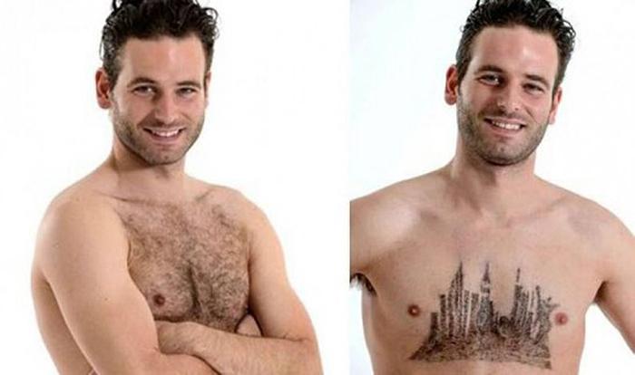 Рисунки на груди от Daniel Johnson.