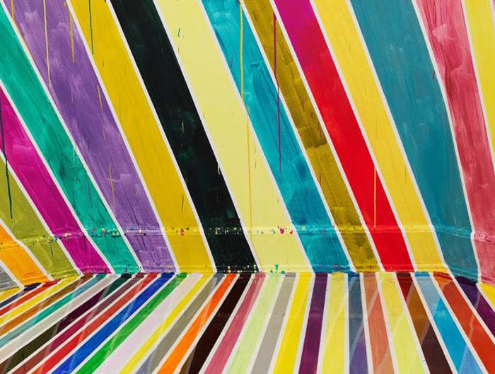 Разноцветная инсталляция Markus Linnenbrink.