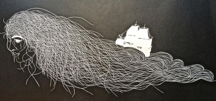 Удивительные композиции из бумаги.