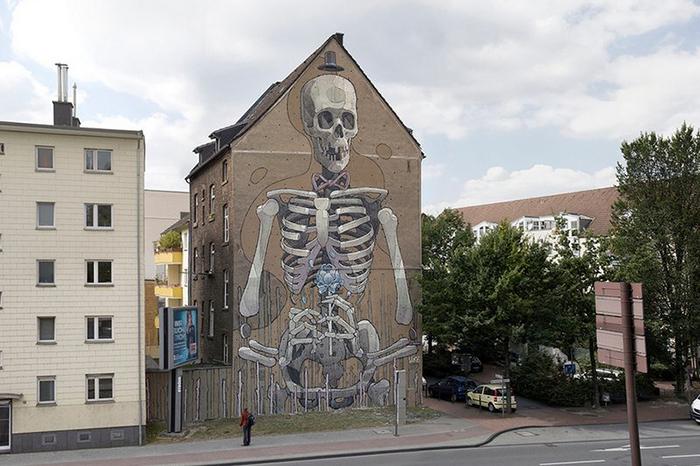 Оригинальные граффити от Aryz.