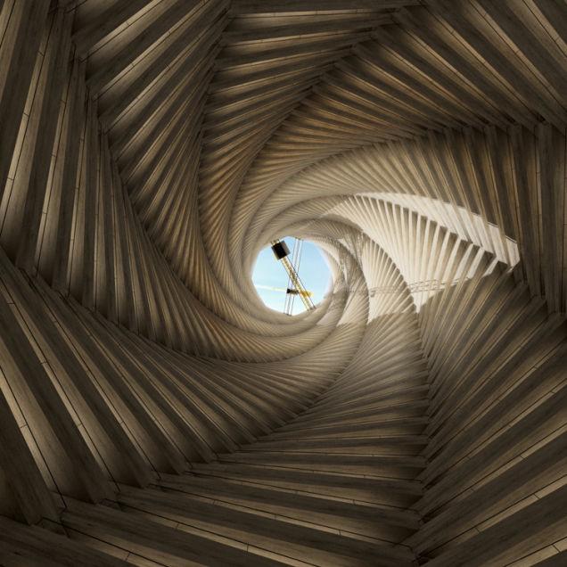 Башня в память о погибших на стройке в Катаре.