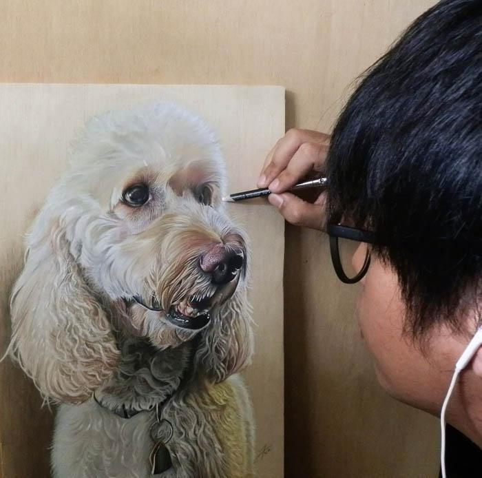 Портреты питомцев в стиле гиперреализм.