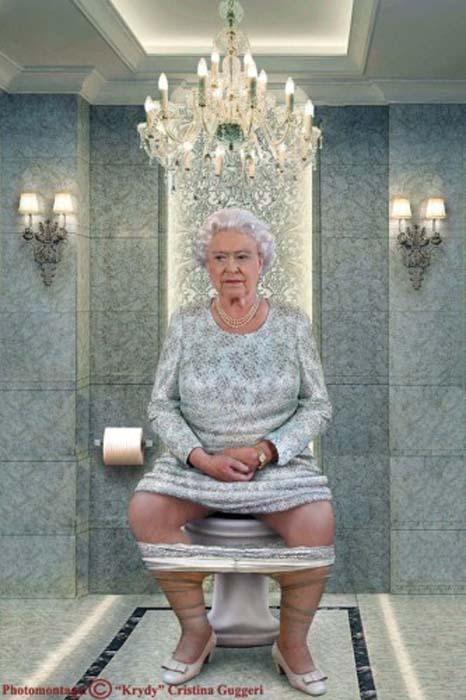 Chritina Guggeri представила мировых лидеров на унитазах.