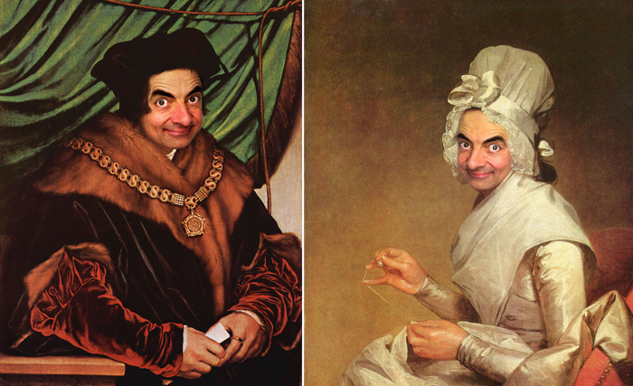 Портреты с Мистером Бином.