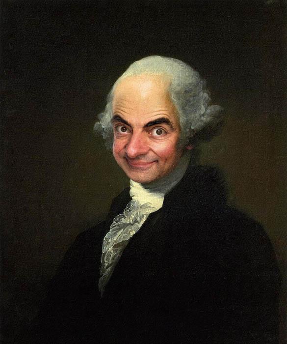 Мистер Бин на классических полотнах.
