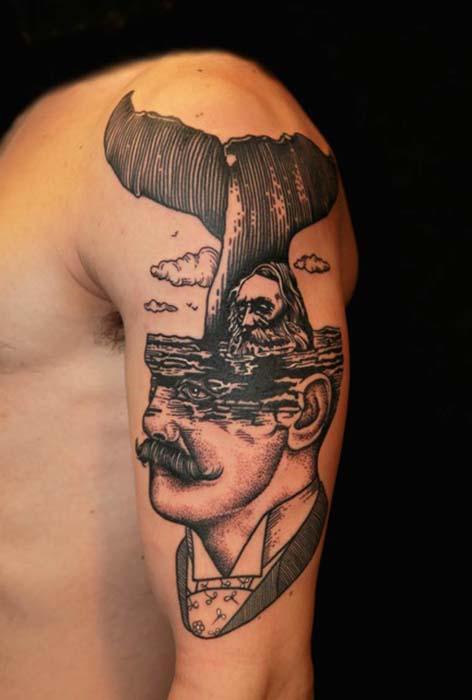 Татуировки от итальянского художника.